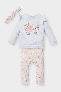 C&A Baby-Outfit-3 teilig, Grau, Größe: 56