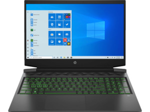 HP Pavilion 16-a0300ng, Gaming Notebook mit 16,1 Zoll Display, Core™ i7 Prozessor, 8 GB RAM, 512 SSD, GeForce RTX 2060 Max-Q, Schwarz