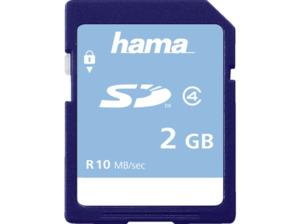 HAMA Class 4, SD Speicherkarte, 2 GB, 10 MB/s