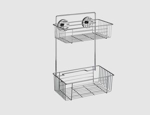WENKO Bari Wandregal Vacuum-Loc silber
