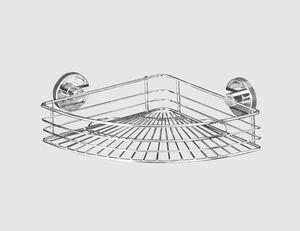 WENKO Bari Eckablage Vacuum-Loc silber