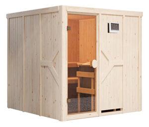 Karibu-Sauna »Taylor« mit Fronteinstieg, inkl. 9-kW-Bio-Kombiofen, ca. 196 x 196 cm