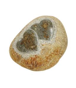 Dehner Stein mit zwei Herzen, klein, 18 x 15 x 10 cm