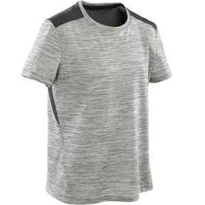 T-Shirt atmungsaktiv Synthetik S500 Gym Kinder grau