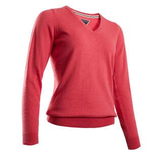 Golf Pullover Damen erdbeerrosa meliert