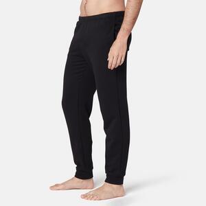 Jogginghose Fitness Baumwolle Herren schwarz