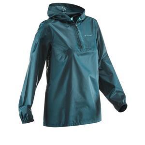 Regenjacke Raincut Naturwandern Damen blau