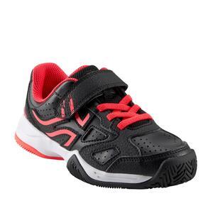 Tennisschuhe TS530 Turnschuhe Kinder schwarz/rosa