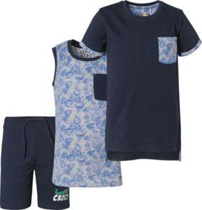 Set T-Shirt+Top+Shorts  dunkelblau Gr. 116/122 Jungen Kinder
