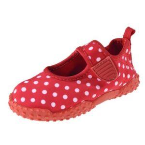 Baby Aquaschuhe mit UV-Schutz PUNKTE  rot Gr. 18/19 Mädchen Baby