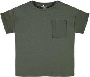 T-Shirt NKMRALLE , Organic Cotton khaki Gr. 134/140 Jungen Kinder