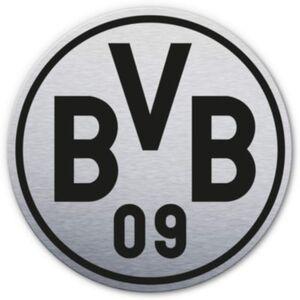 Alu-Dibond mit Silbereffekt BVB Logo silber