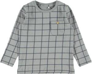 Langarmshirt NMMSIMO , Organic Cotton grau Gr. 122/128 Jungen Kinder