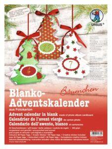 Blanko-Adventskalender Bäumchen