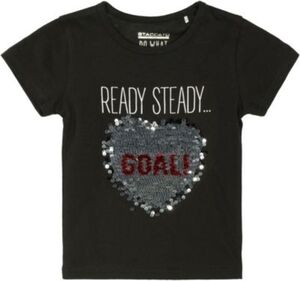 T-Shirt  schwarz Gr. 128/134 Mädchen Kinder