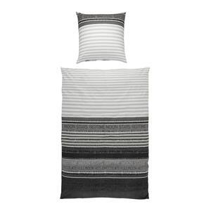Janine Bettwäsche biber dunkelgrau  Davos 6481/08  Textil
