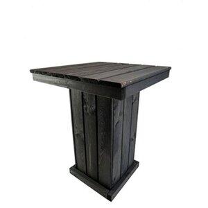 Promadino Holz-Tisch klein St. Peter Ording, Anthrazit
