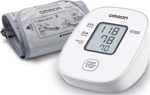 Omron Blutdruckmessgerät X2 Basic, klinisch validierte Genauigkeit mit nur einem Knopfdruck