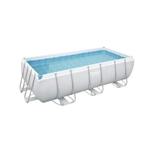 Bestway Stahlrahmen-Pool Power Steel 404 cm x 201 cm x 100 cm Eckig