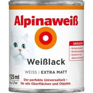 Alpinaweiß Weißlack extra matt 125 ml