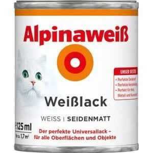 Alpinaweiß Weißlack seidenmatt 125 ml