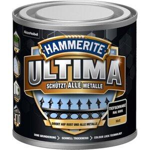 Hammerite Ultima Premium Metall-Schutzlack matt Tiefschwarz 250 ml