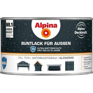 Alpina Buntlack für Aussen Anthrazit glänzend 300 ml