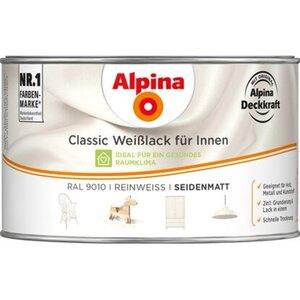 Alpina Classic Weißlack für Innen Reinweiß seidenmatt 300 ml