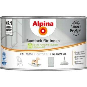 Alpina Buntlack für Innen Lichtgrau glänzend 300 ml