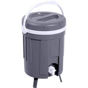 Kühlbox Isotherm mit Zapfvorrichtung 8 l Hellgrau