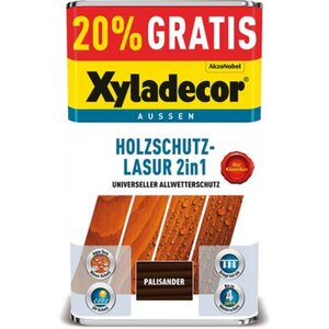 Xyladecor Holzschutz-Lasur 2in1 Palisander 4 + 1 l