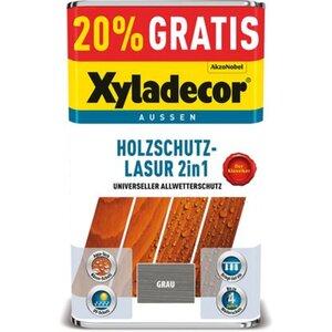 Xyladecor Holzschutz-Lasur 2in1 Grau 4 + 1 l