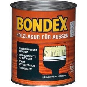 Bondex Holzlasur für Außen Nussbaum seidenglänzend 750 ml