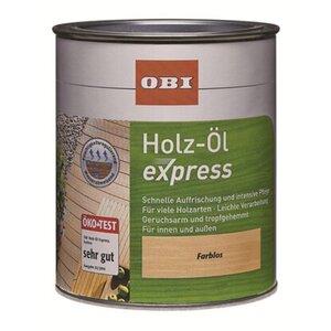 OBI Holz-Öl Express Transparent 750 ml