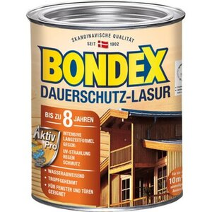 Bondex Dauerschutz-Lasur Grau 750 ml