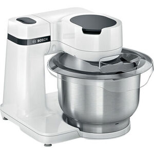 Bosch MUMS2EW00 Küchenmaschine, 3D-Planetenrührwerk, 700W, weiß