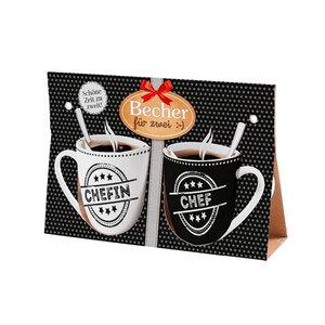 """Kaffee Becher für zwei """"Chef und Chefin"""""""