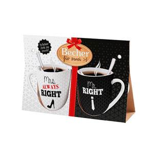"""Kaffee Becher für zwei """"Mrs & Mr Right"""""""