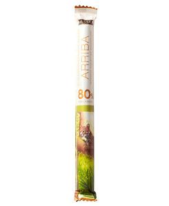 Edelbitterschokolade Arriba 80% Kakao von Hussel, 37g Stick