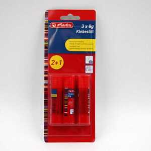 herlitz 3er-Pack Klebestift je 8 g