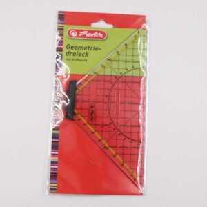 Herlitz Geodreieck mit Griffleiste Geometrie-Dreieck Zeichendreieck Lineal 20 cm