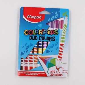 Maped Color`Peps Fasermaler mit Doppelspitze Longlife Filzstifte 10er-Pack