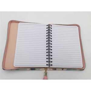 Notizbuch im Etui, Farbklecks Muster, 100 Blatt, 16,0 x 21,5 cm, bunt