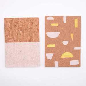 Notizbuch, 96 Blatt, Kork, A5, 21 x 15 cm, verschiedene Designs