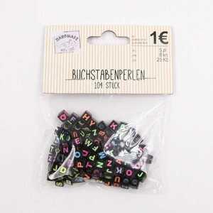 Buchstabenperlen Perlen Bastelperlen mit Buchstaben Kunststoffperlen