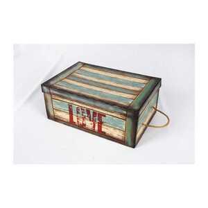 """Aufbewahrungsbox mit Kordel, Vintage """"Love"""", Pappe, 24 x 36 x 15 cm"""