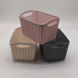 Aufbewahrungskorb, Knit-Optik, 3,3 L, verschiedene Farben
