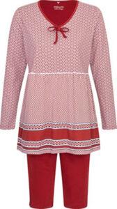 Ammann Single-Jersey Damen-Schlafanzug  gemustert langarm#Capri 44