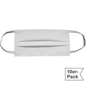Mund- und Nasenmaske im 10er-Pack 95 Grad waschbar  Uni  Einheitsgröße