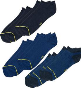 REDBEST Herren-Sneaker-Socken im 6er-Pack  Uni#Streifen  43 - 46